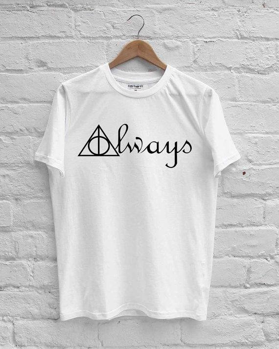 Harry Potter Always Deathly Hallows Symbols T Shirt By Yamahavix