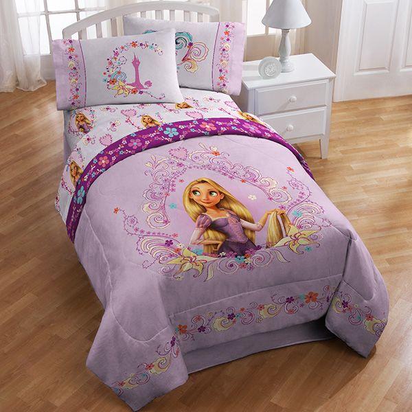 ''Magic in Your Heart'' Tangled Rapunzel Comforter -- Twin
