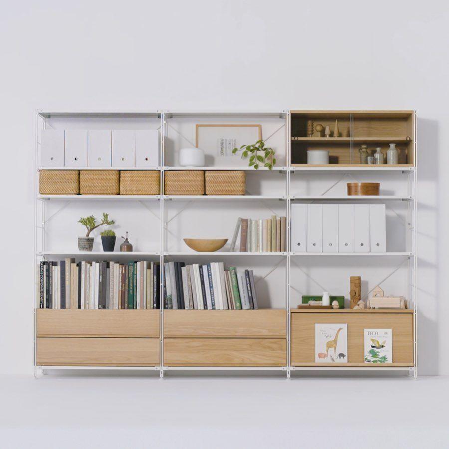 Muji Australia On Instagram Muji Has Developed A Unit Shelf Where Each Component Can Be Selected According To Its Ease Of Use Shelves Muji Home Muji Storage
