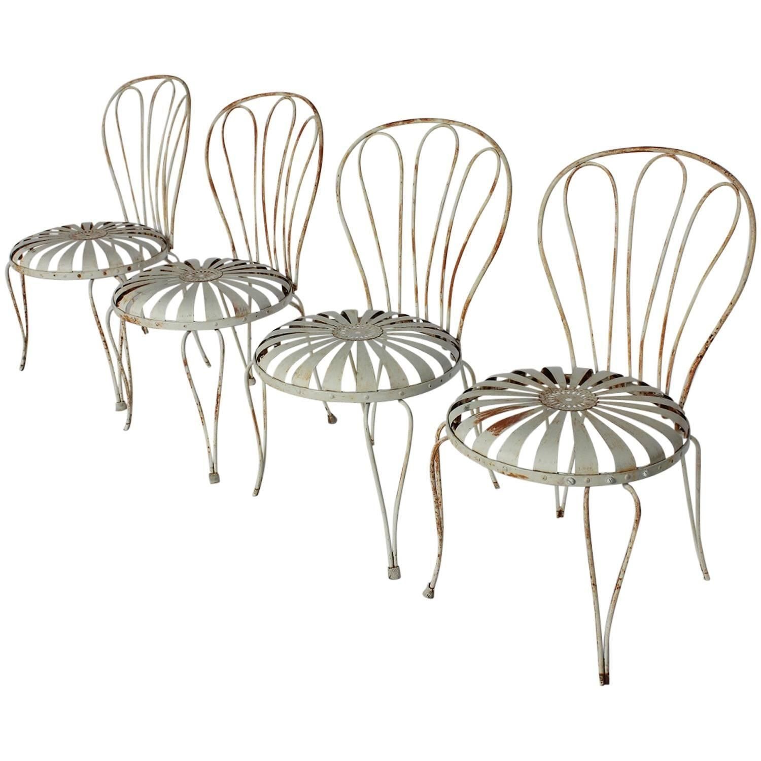 1930s French Sunburst Garden Chairs by Francois Carre | From a unique  collection of antique and modern patio and garden furniture at ... - 1930s French Sunburst Garden Chairs By Francois Carre Modern Patio
