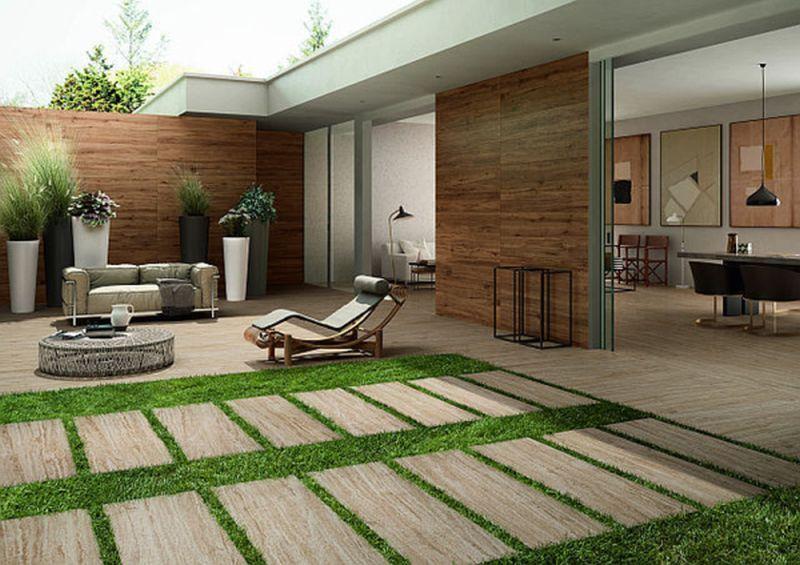 Balkone und Terrassen mit Fliesen in Holzoptik | Pinterest ...