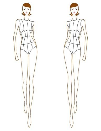 how to sketch figures for dressmaking - Google Search Christmas - blank fashion design templates