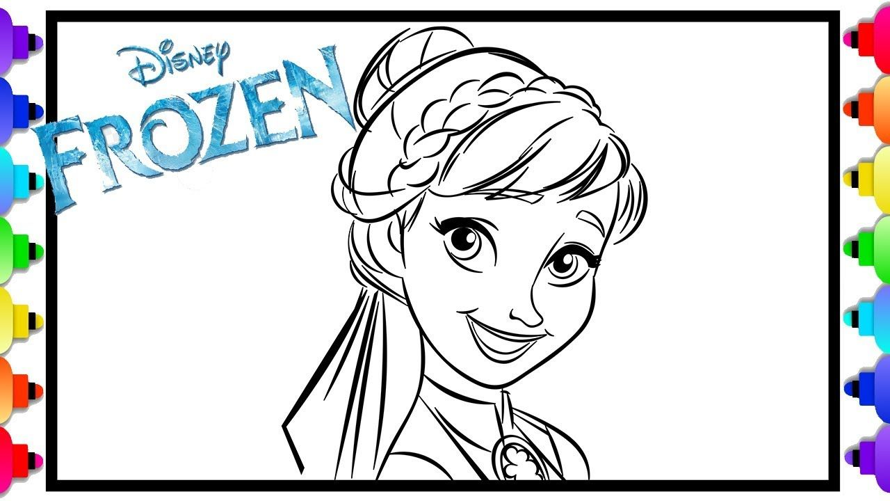 Learn How to Draw Princess Anna Frozen 2 💙 Frozen 2 ...