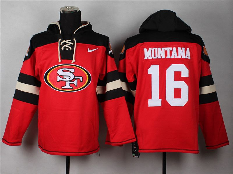 official photos d00b6 a37bc NFL San Francisco 49ers #16 Joe Montana Pullover Hockey ...