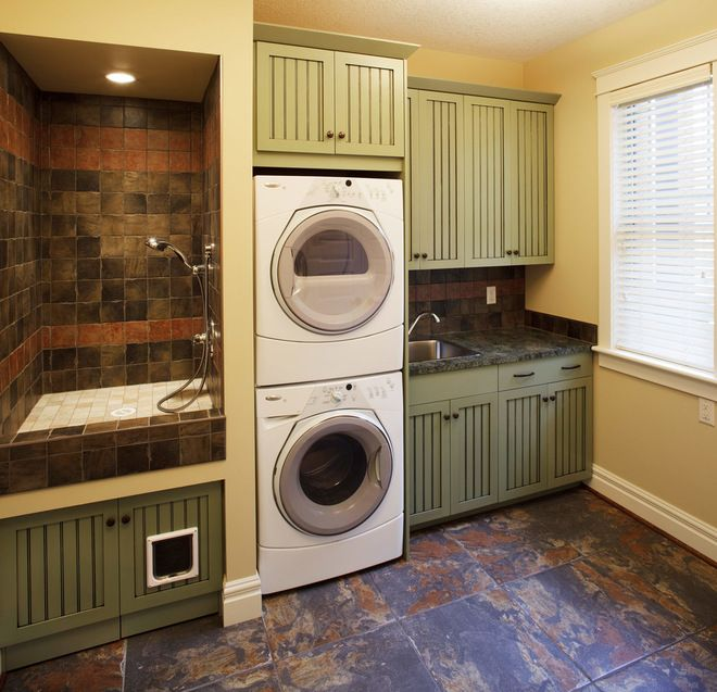 Eclectic Laundry Room By Affinity Kitchens