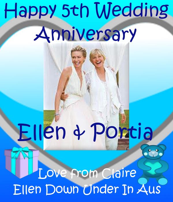 Happy 5th Wedding Anniversary Ellen & Portia xox 17th
