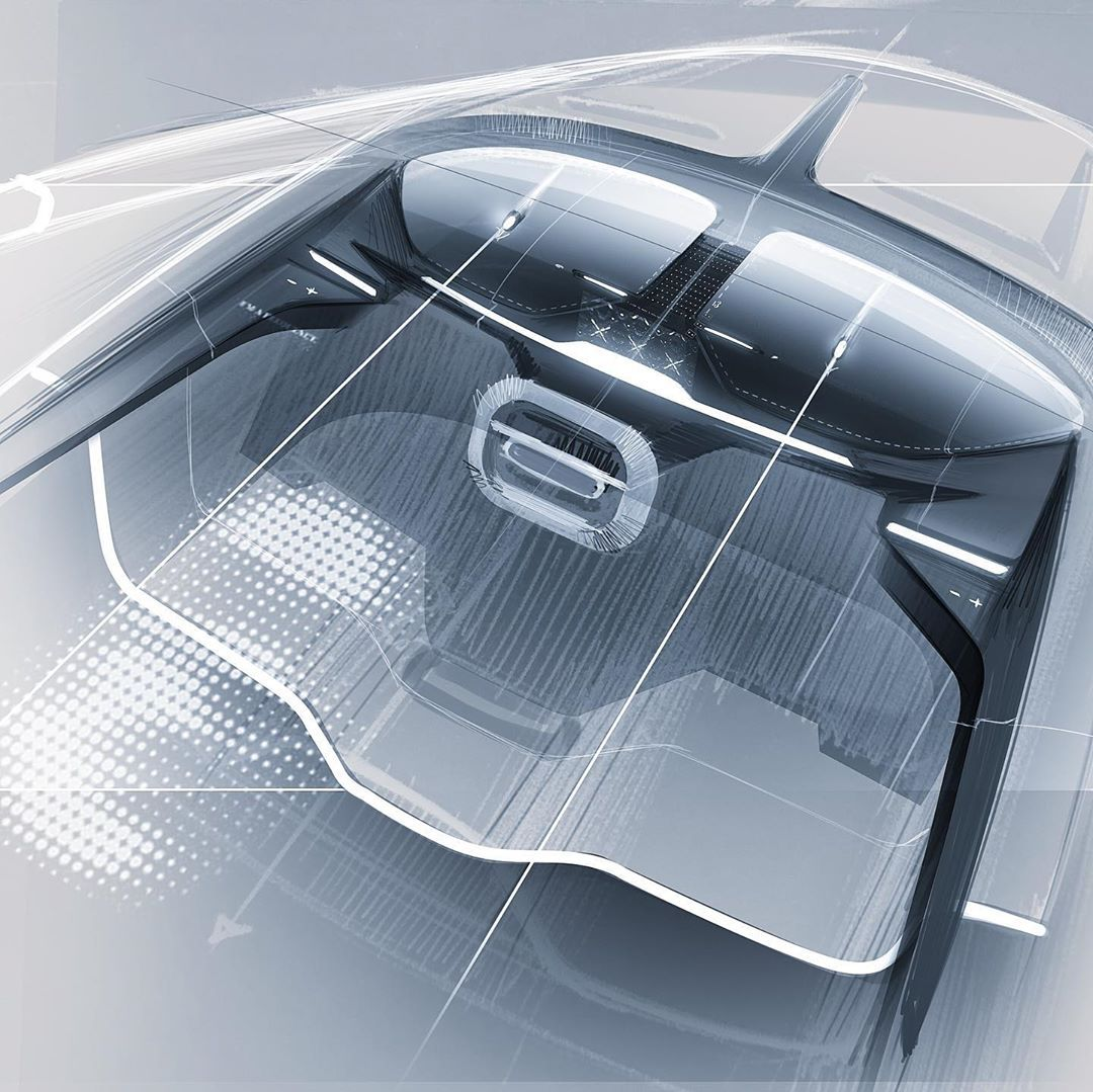 Electric Interior Doodle Art Car Personel Electrical Sketch
