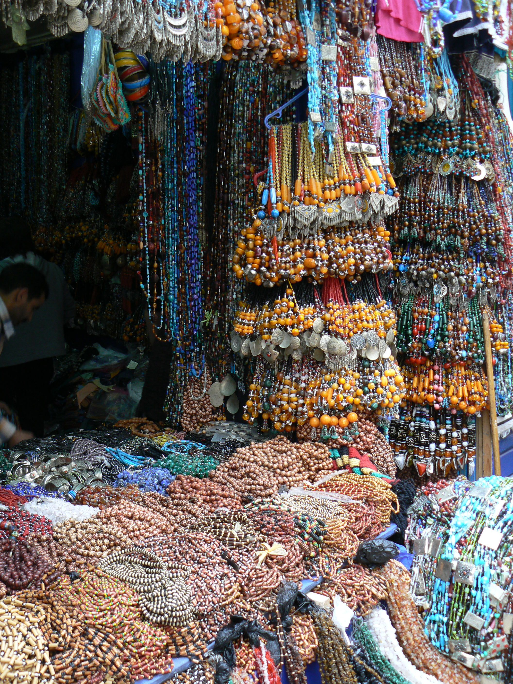 Beaded necklace shop Morrocco