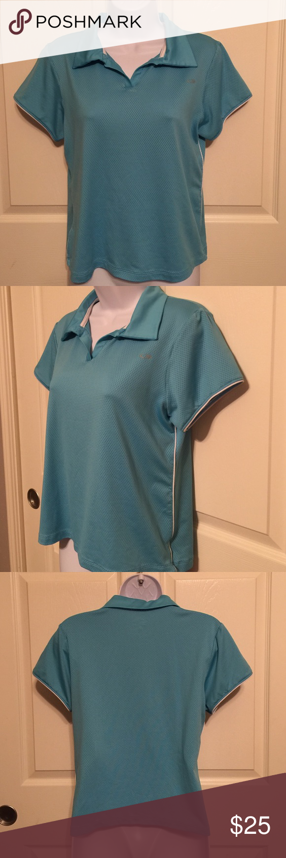 Champion Sport shirt medium aqua blue ladies teens Champion sports aqua blue medium teens ladies shirt 👚 preowned in excellent condition.   Check out my closet, we have a lot of Victoria Secret, Bath and Body Works, handbags, Aerosoles, shoes, fashion jewelry, women's clothing, Beauty products, home decors & more...  Ships via USPS. We offer bundle discounts. And don't forget your FREE GIFT with every purchase!!! Thank you & Happy Poshing!!! Champion Tops Crop Tops