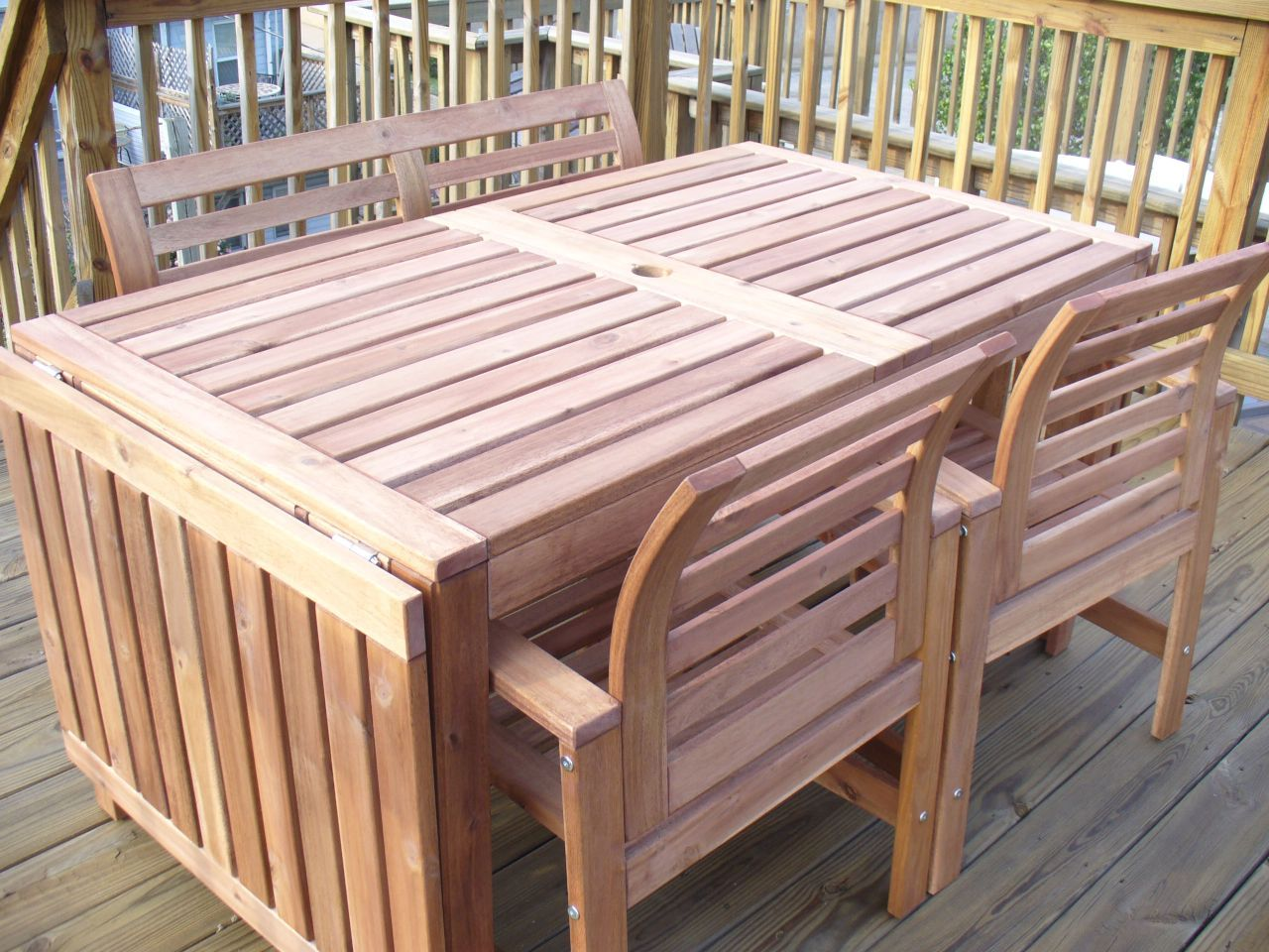 ikea patio furniture. Preview Ikea Patio Furniture 2014 For Outdoor : Charming Drop Leaf Table Made Of Wood Are Placed On A Wooden Balcony And There Is R