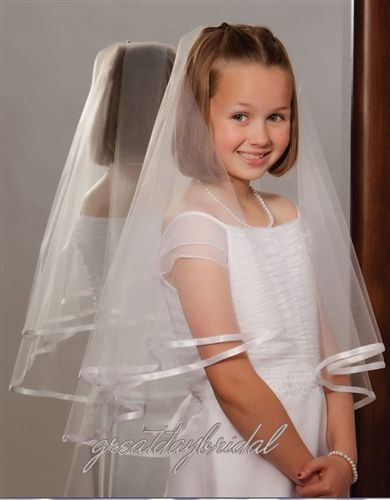 hair style for little girl communion veil 2450 communion veils 2450 | 32dce25b02cde4360fbdc7130e640eb2