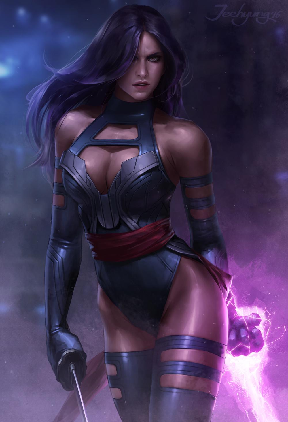 Artstation X Men Apocalypse Psylocke Jeehyung Lee Psylocke Female Hero Superhero