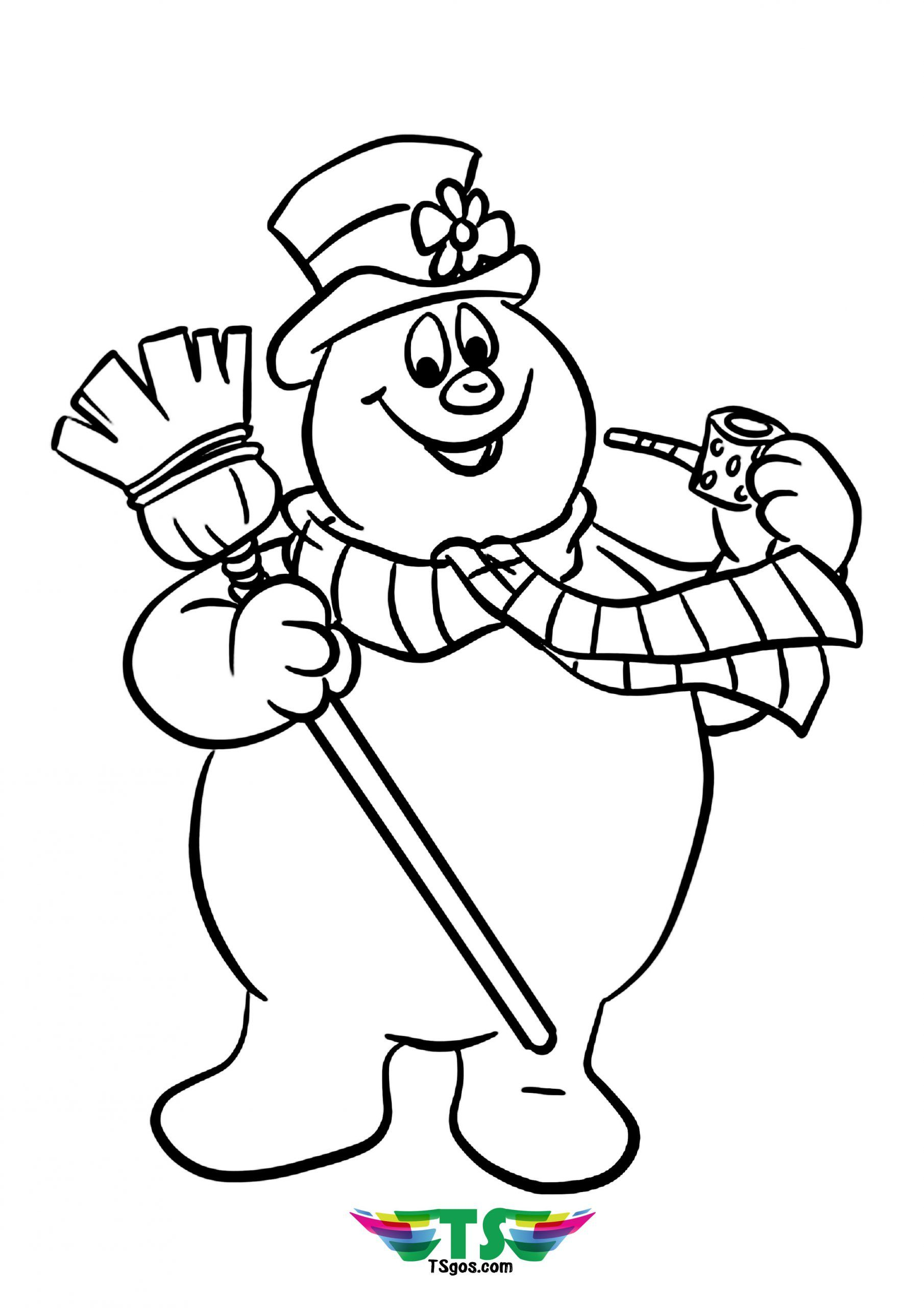 Kids Frosty The Snowman Tsgos Coloring Page Snowman Coloring Pages Printable Christmas Coloring Pages Cartoon Coloring Pages