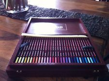 derwent pastel pencil set in wooden box set of 90