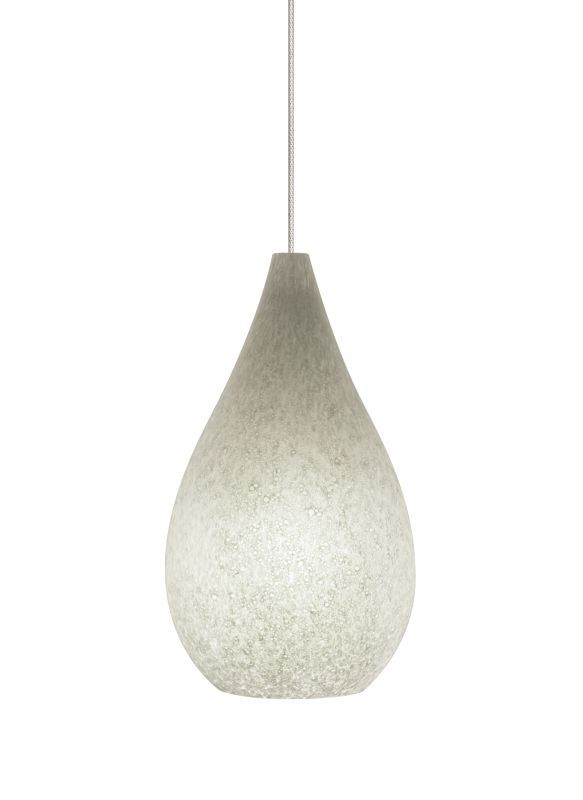 Tech Lighting 700MOBRUY MonoRail Brulée Teardrop Shaped Gray Glass