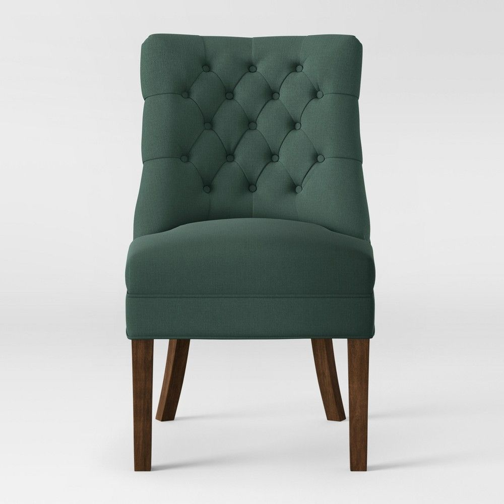 Dark Tobacco Accent Chair By Target: Winslow Tufted Back Slipper Chair Teal