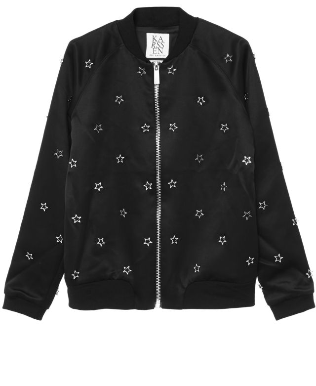 54de3ffcb SILVER STARS CROPPED BOMBER | Zoe Karssen | Style/Fashion | Bomber ...