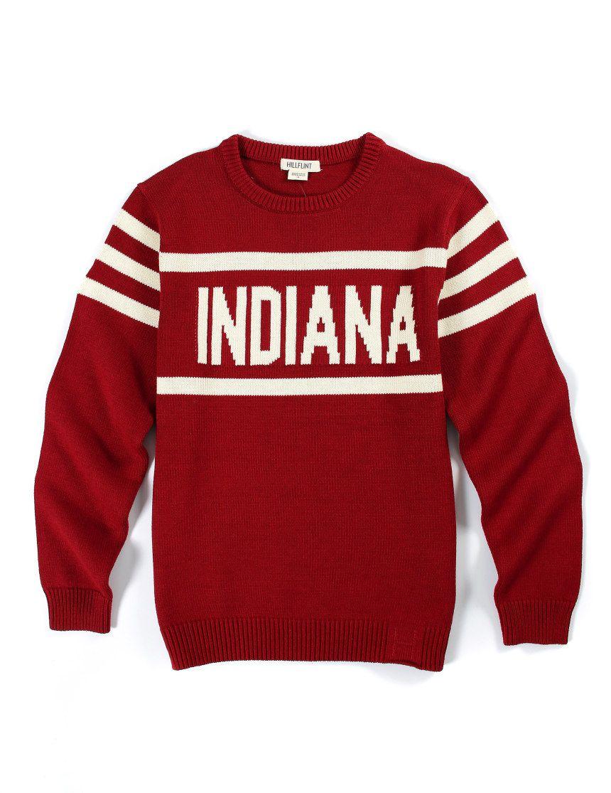 08cec2611c Indiana Crewneck Stadium Sweater - Hillflint