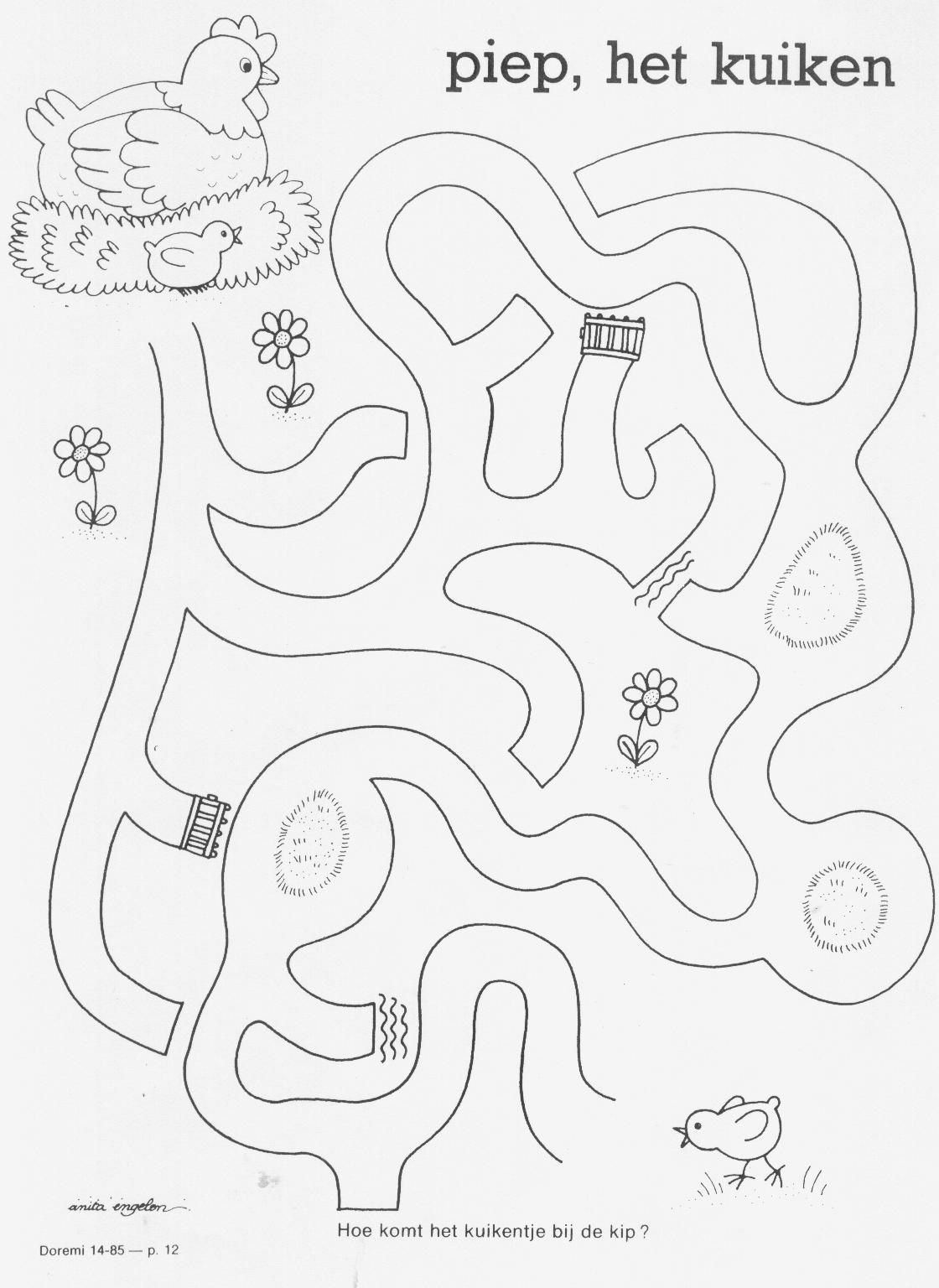 Lente, kip en kuiken | labirinti e percorsi | Pinterest | Labyrinthe