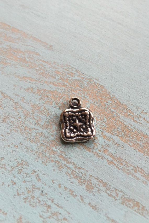 Rustic Cross Charm, Antiqued Sterling Silver Findings Charms Pendants Jewelry Supplies