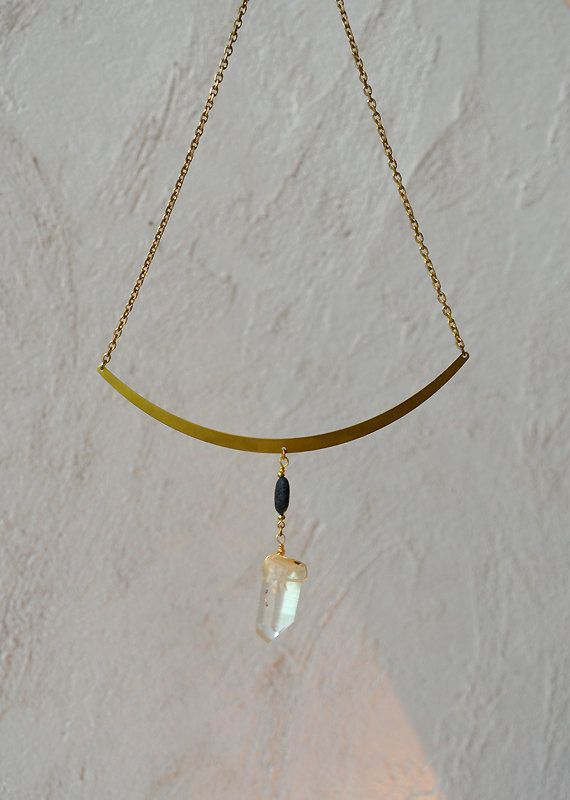 Genuine Lava and lemon quartz crystal by ArtandMagictoWear on Etsy, €29.00