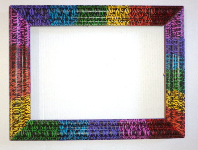 Funky picture frames photo frame with the colors of the Rainbow are ...