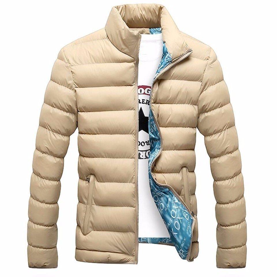 Men's Outwear New Jacket Parka Casual Warm Thick Men/'s Winter Slim Collar Coat