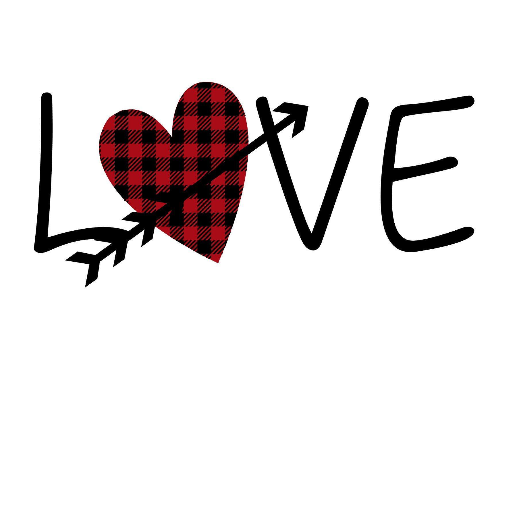 Download Love Heart Plaid Arrow SVG   Arrow svg, Love heart ...