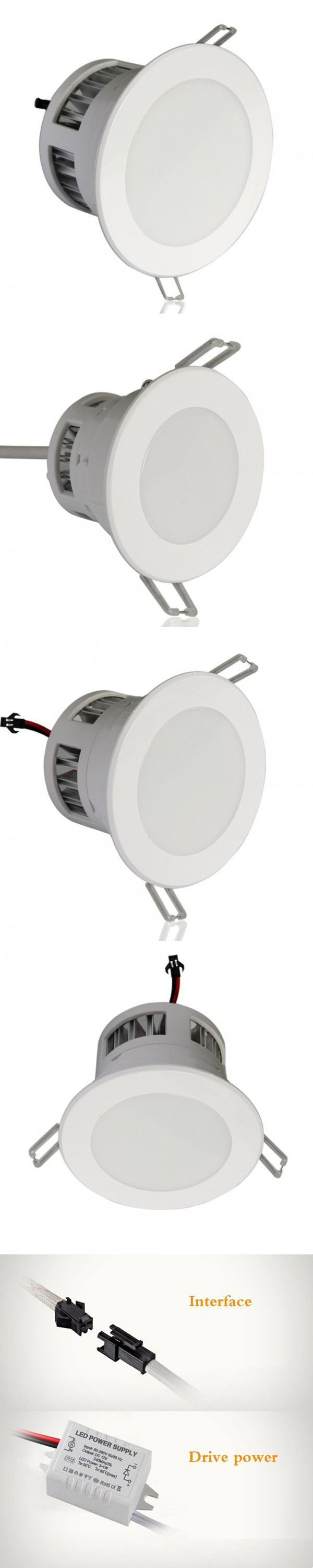 4pcs/lot LED Down Light Dimmable Led Downlight Recessed Ceiling Spot ...