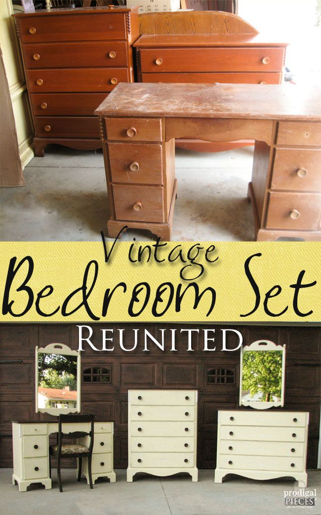 Vintage Cherry Bedroom Set Reunited at last by Prodigal Pieces |  www.prodigalpieces.com - Bedroom Set ~ A Vintage Reunion My Pieces & Projects Pinterest