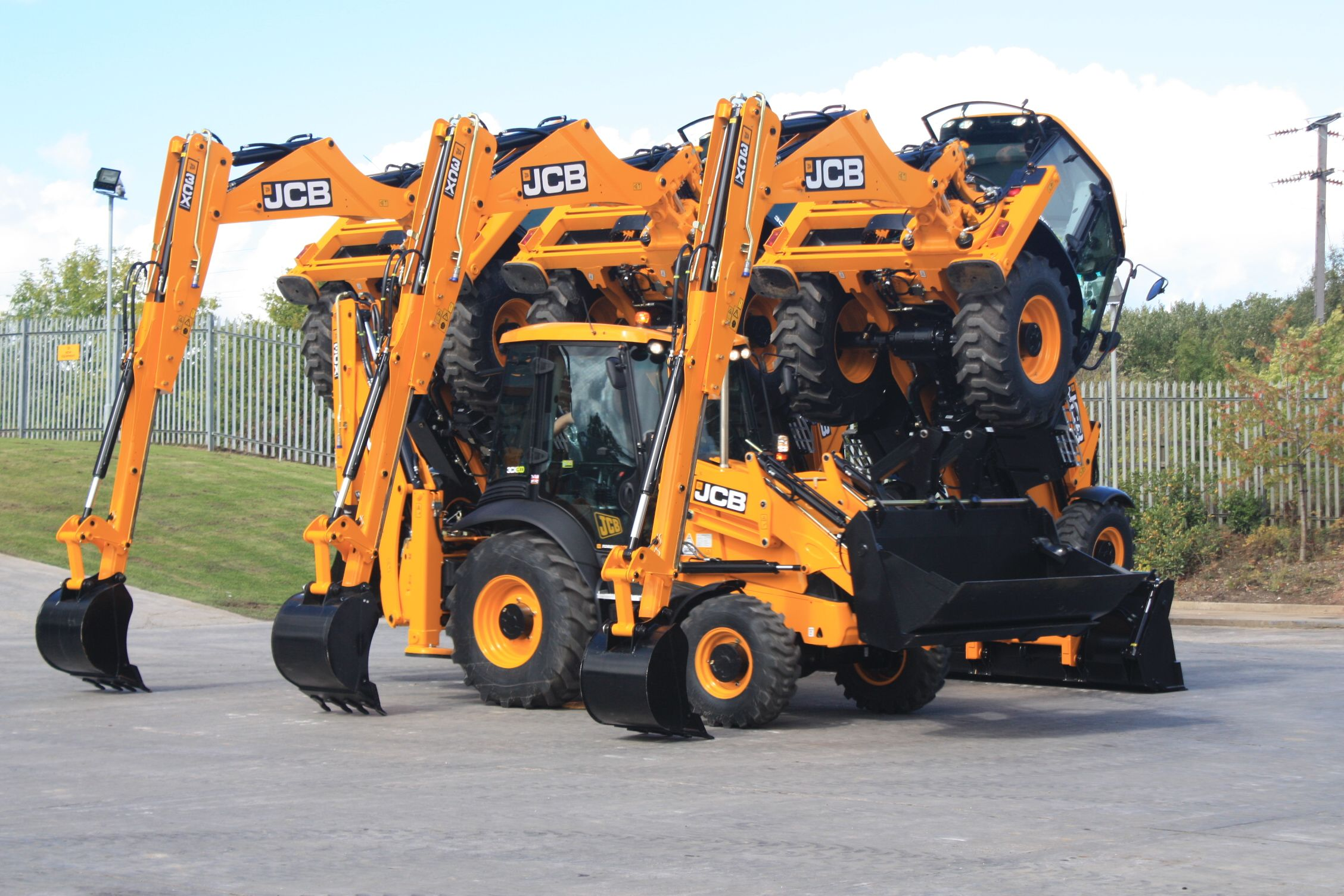 JCB   x4   JCB Tractors &equipment   Heavy machinery, Construction