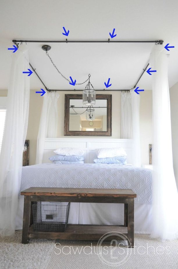 Beautiful Diy Bed Canopy Ideas Part - 14: How To Make A Pvc Bed Canopy, Bedroom Ideas, How To, Painted Furniture