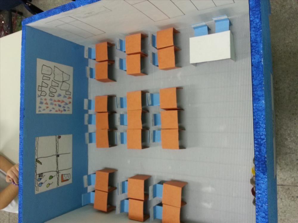 Alunos constroem maquetes de sala de aula - Sartre COC