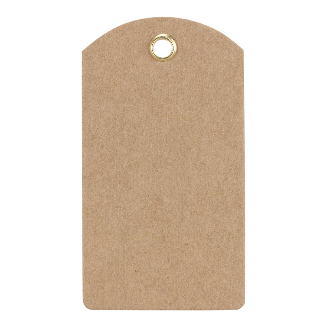 Geschenkanhänger 70 x 40 mm, Kraftkarton, Öse, HT04