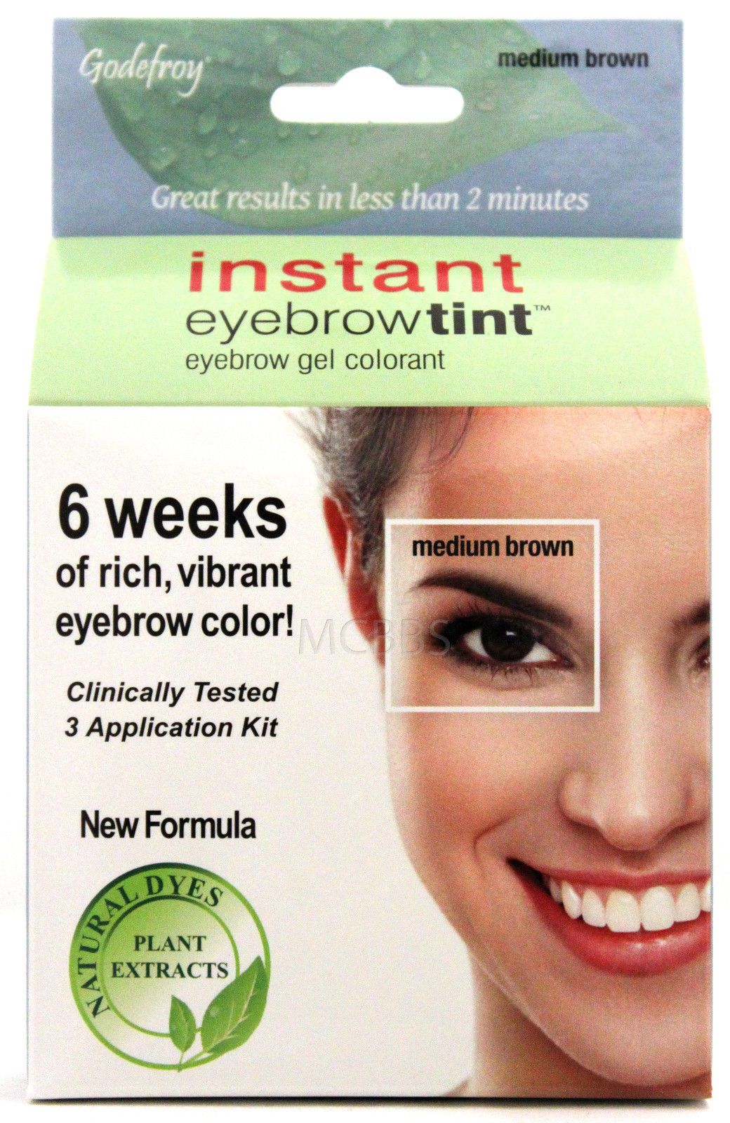 $10.95 - Godefroy Instant Eyebrow Tint Permanent Color Kit Natural ...