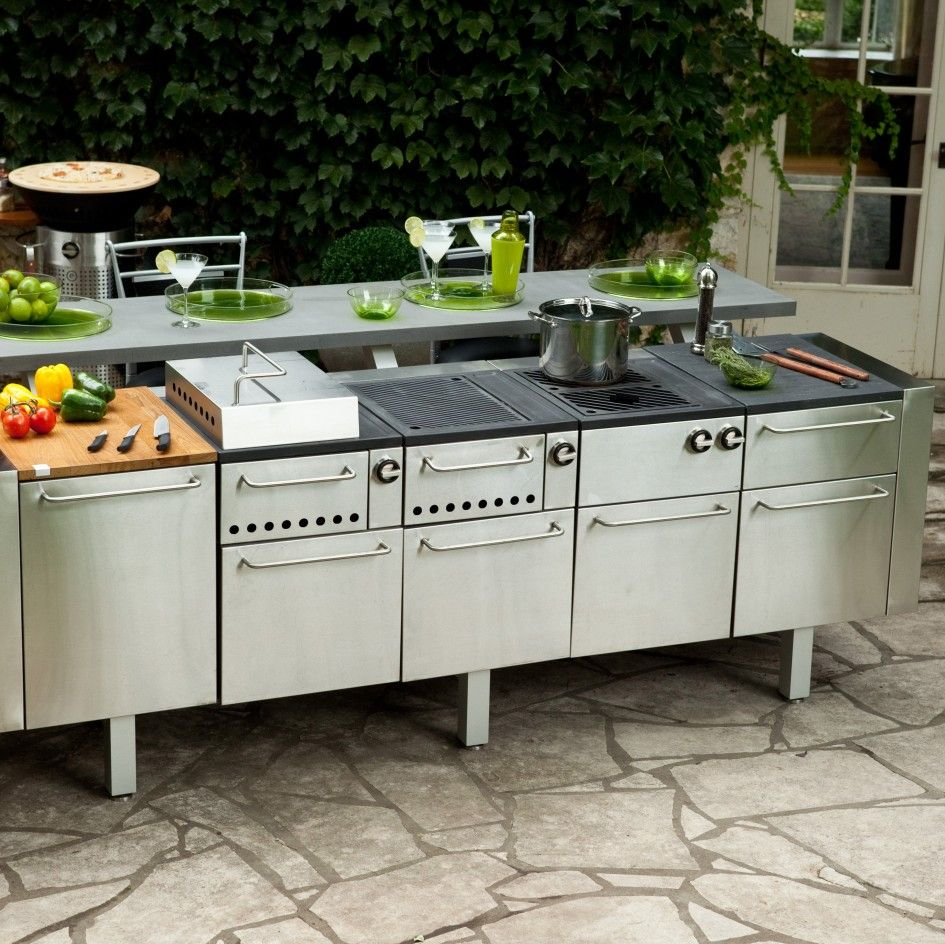 Hypnotic Prefab Outdoor Kitchen Grill Island with Metal Outdoor ...