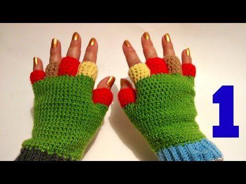 Aprende a tejer guantes con dedos cortos en dos agujas - Parte 1 de ...
