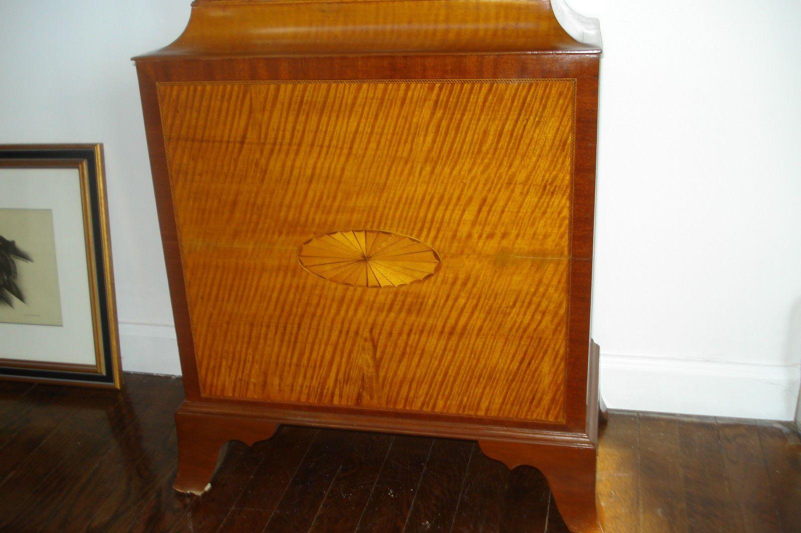 Late 18th Century Massachusetts Tiger Maple Tallcase Clock Spencer Nolen Dial | eBay