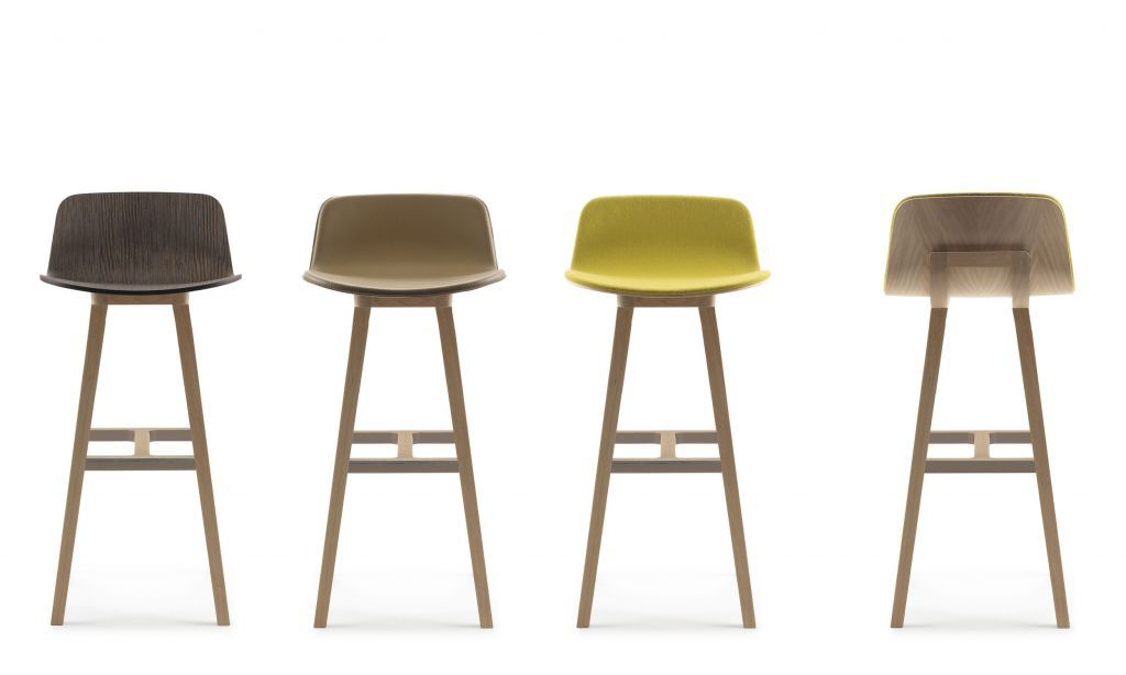 FURNITURE, Contemporary Bar Stools: Functional and Decorative at Once!: Wooden Minimalist Contemporary Bar Stools