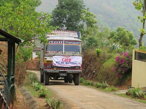The first CARE emergency team arrived in Gorkha yesterday. #CARE staff Lucy Beck reports from ground that landslides have cut off road connectivity. One truck from India arrived yesterday and another is slated to reach today with more supplies. CARE is helping #Nepal earthquake survivors. Photo - CARE Donate here: http://careindia.org/give-earthquake-np?cid=NP201501HP