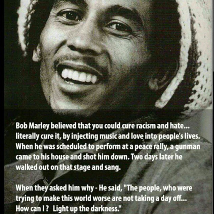 Light Up The Darkness. Bob Marley Quote