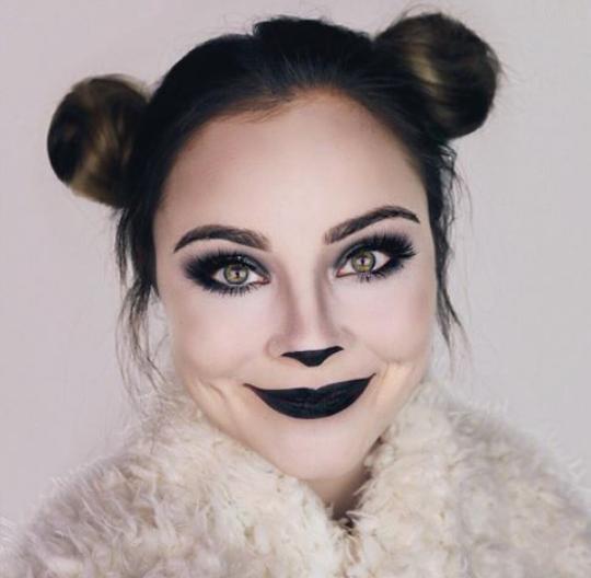 Make up panda  sc 1 st  Pinterest & Make up panda   Halloween makeup   Pinterest   Panda and Halloween ...