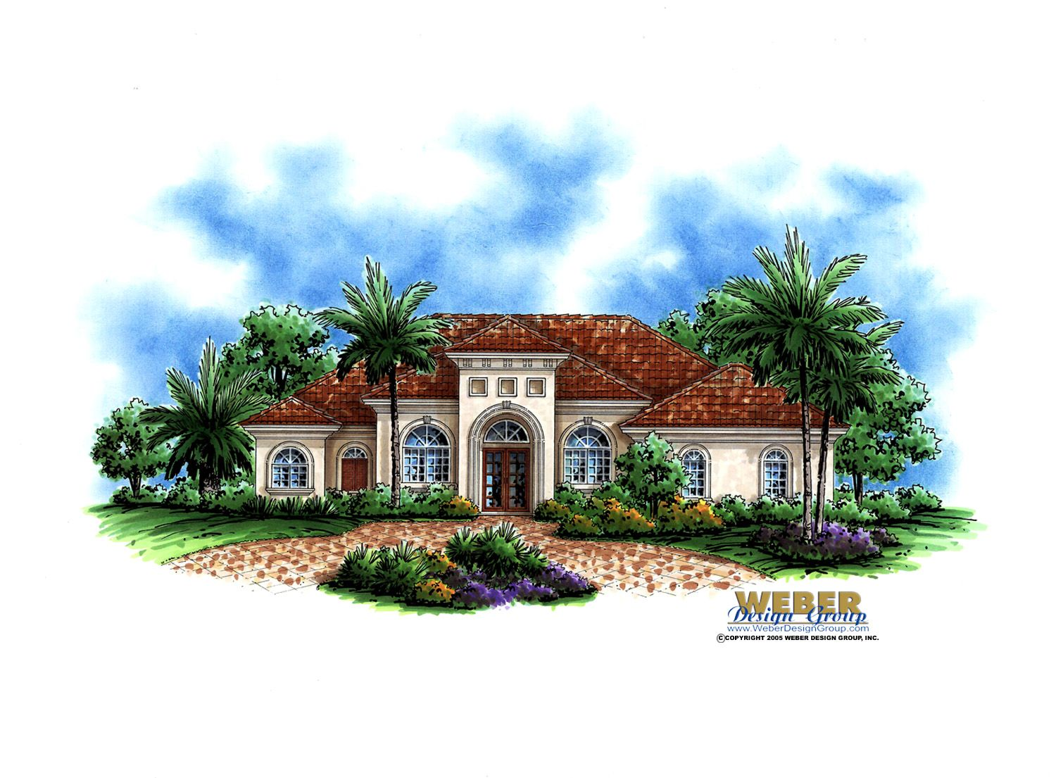 mediterranean but with arabic three square above arch front