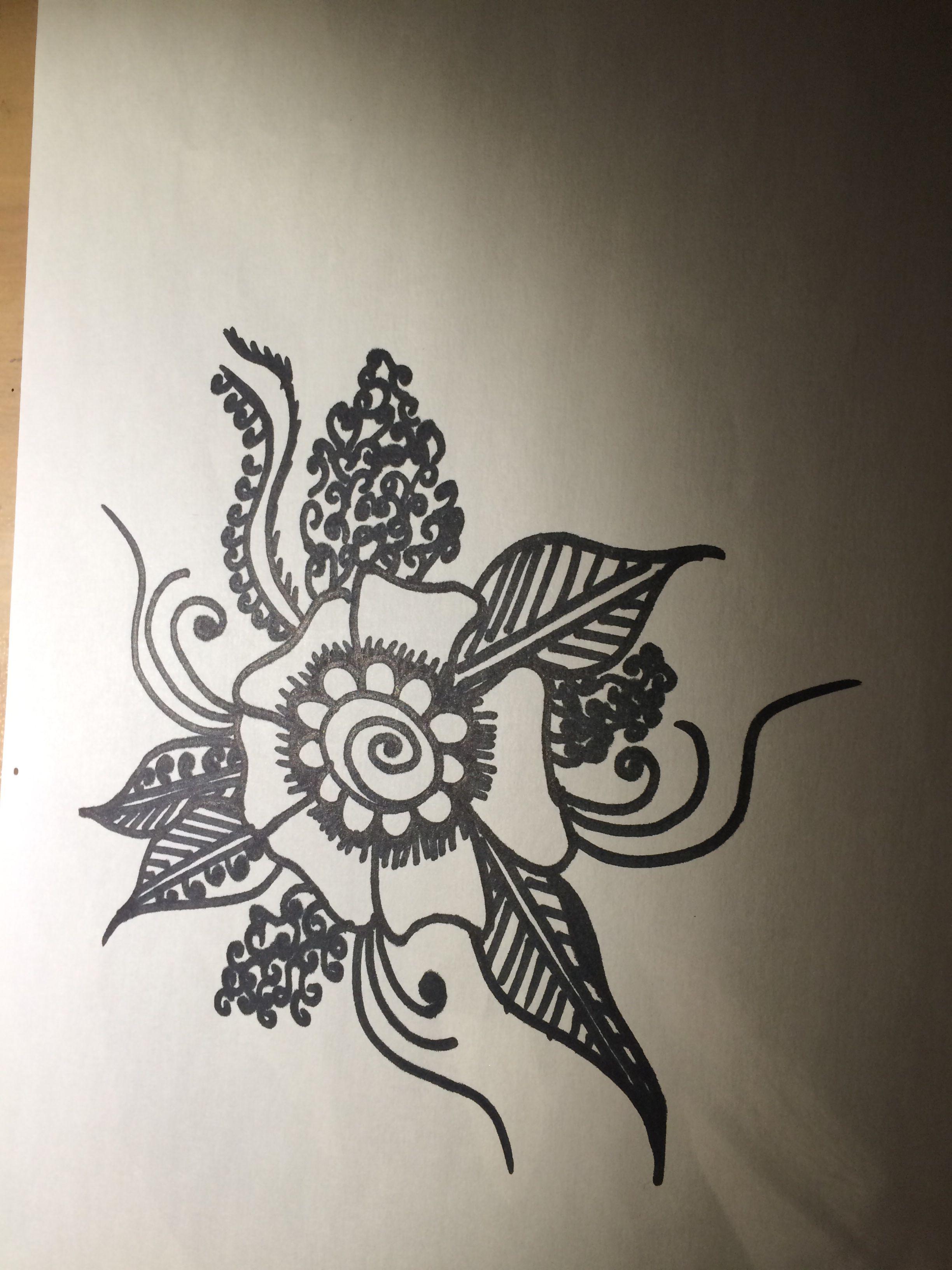 My henna flower