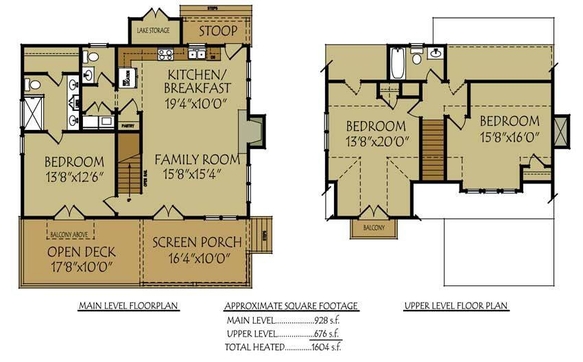 bungalow house plans with porches. Lake James Cabin is a small bungalow cottage house plan with an open deck  screened Small Bungalow Cottage House Plan Porches and Photos