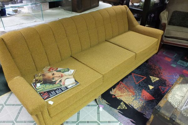 $285 Mustard Colored Mid Century Sofa
