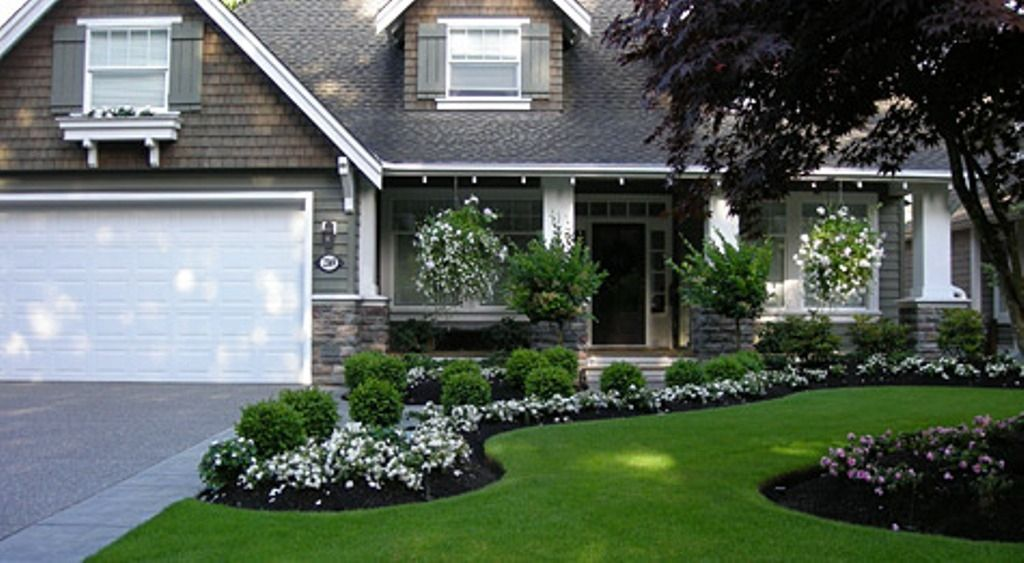 Flower Garden Designs For Stunning Front Yard Landscape Grey ... on garage landscaping ideas, colonial house garden, colonial house outdoor lighting, colonial house plants, georgian home landscape ideas, colonial house landscape with grasses, colonial house patio, colonial house bathroom, colonial house landscaping,