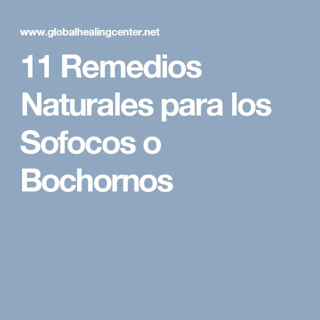menopausia remedios naturales para sofocos