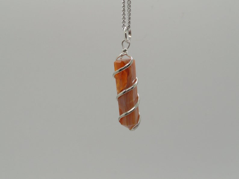 Necklace with Sun stone crystal