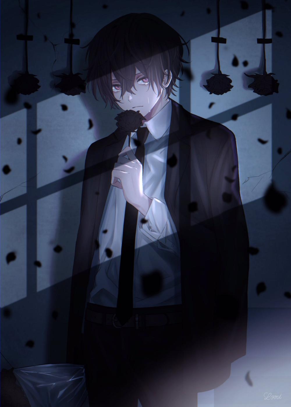 Anime Bilder Traurig Racine By Menolly90black In 2020 Dark Anime Cute Anime Boy Anime Drawings Boy dark anime cute anime boy anime